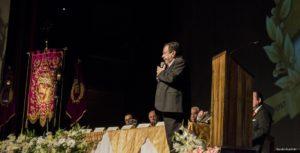 Profesor Jorge Mario Díaz disertando sobre la Historia de Jesús de Candelaria